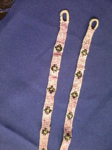antiguos breteles bordados en mostacillas y canutillos