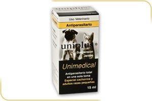 antiparasitario interno para caninos y felinos uniplus 15 ml