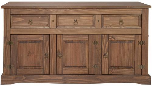 aparador bargueño 3 puertas 3 cajones madera maciza colonial