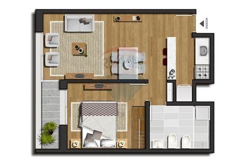 apartamento 1 dorm a estrenar en tres cruces