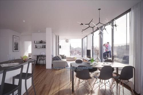 apartamento 1 dormitorio con terraza al frente
