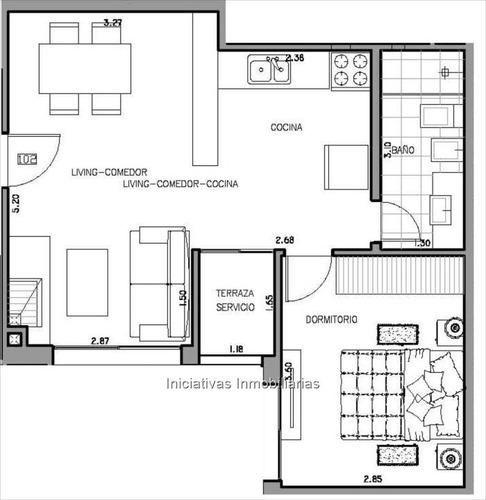 apartamento 1 dormitorio parque batlle