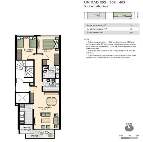 apartamento 2 dormitorios 2 baños proximo a wtc