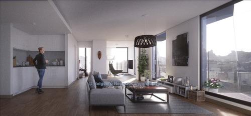 apartamento 2 dormitorios con terraza al frente
