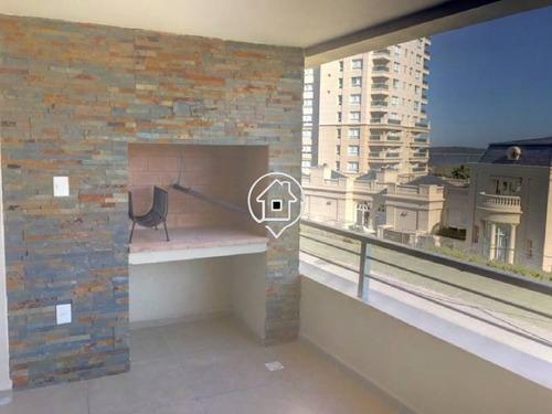 apartamento a estrenar con vista al mar, balcon con parrillero, playa mansa punta del este - ref: 83