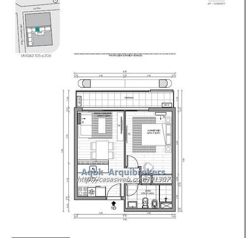 apartamento de 1 dormitorio en venta en centro