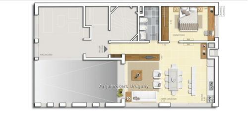 apartamento de 1 dormitorio en venta en rambla de malvín