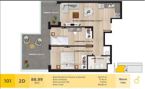 apartamento de 2 dormitorios con patio en venta en cordón