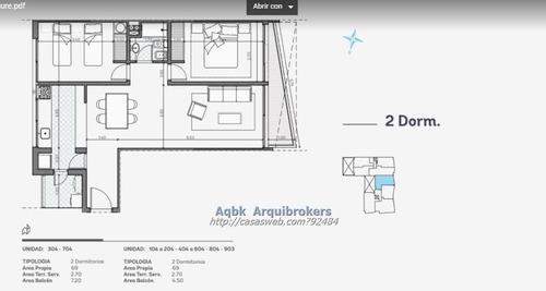 apartamento de 2 dormitorios en venta en barrio sur