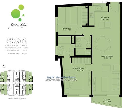 apartamento de 2 dormitorios en venta en la mansa