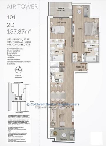 apartamento de 2 dormitorios en venta en pocitos