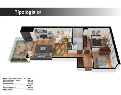 apartamento de dos dormitorios, divinas terminaciónes, en obra, financiación durante la obra  - ref: 1394