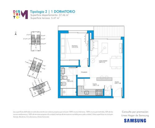 apartamento - distrito m- un dormitorio