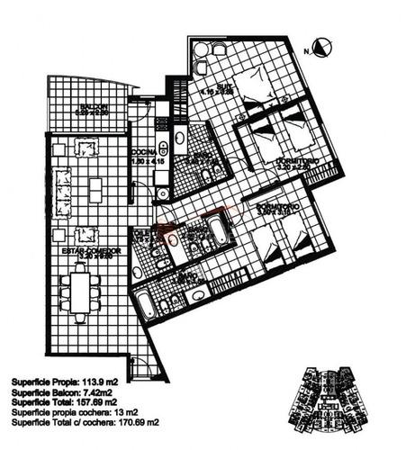 apartamento en punta del este, zona brava - ref: 11018