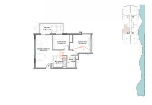 apartamento en punta del este, zona brava - ref: 13955