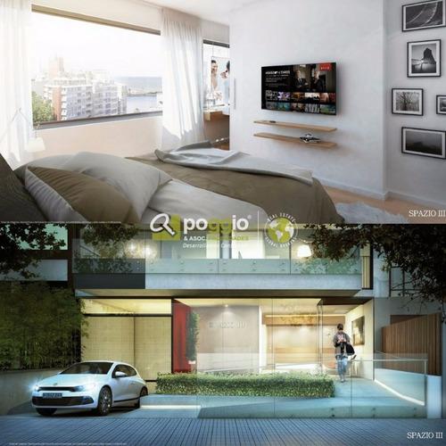 apartamento en venta 1 dormitorio pocitos - ed. spazio iii
