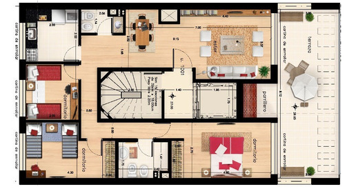 apartamento en venta centro montecarlo 2 dormitorios 2 baños