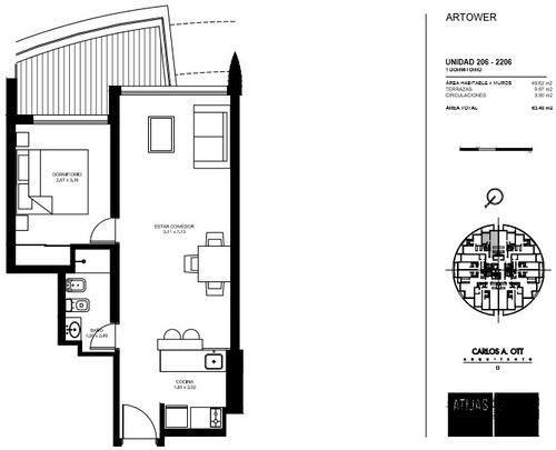 apartamento en venta de 1 dormitorio
