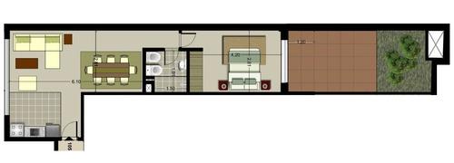 apartamento en venta de 1 dormitorio en buceo