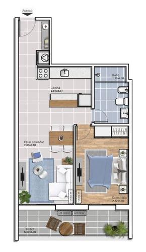 apartamento en venta de 1 dormitorio en cordon sur