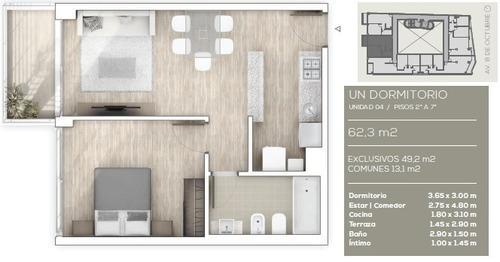 apartamento en venta de 1 dormitorio en la blanqueada