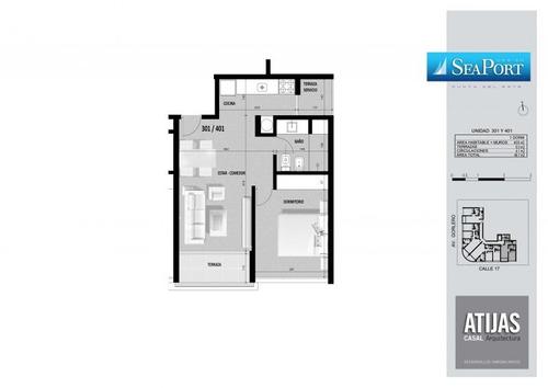 apartamento en venta de 1 dormitorio en peninsula