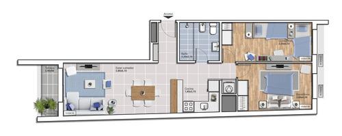 apartamento en venta de 2 dormitorios en cordon sur