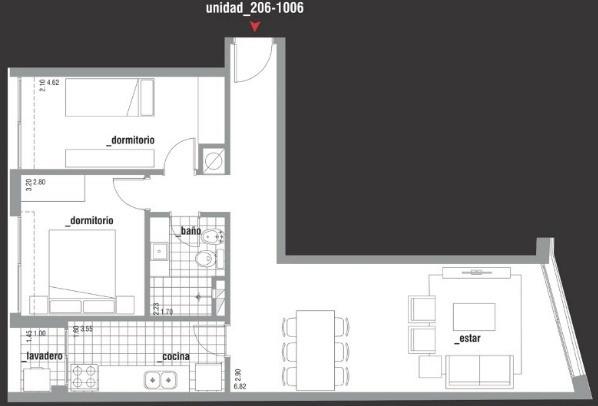 apartamento en venta de 2 dormitorios en la aguada