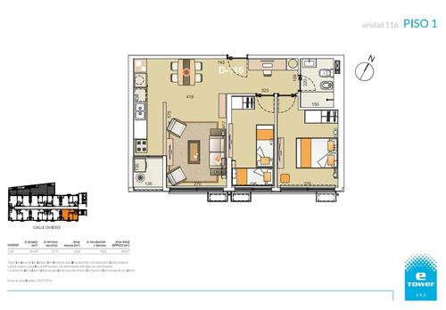 apartamento en venta de 2 dormitorios en malvin