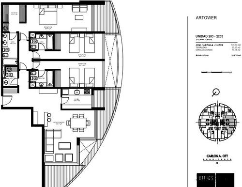 apartamento en venta de 3 dormitorios