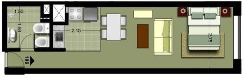 apartamento en venta de monoambiente en buceo
