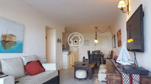 apartamento frente al mar con piscina parrillero dos dormitorios enero - ref: 16
