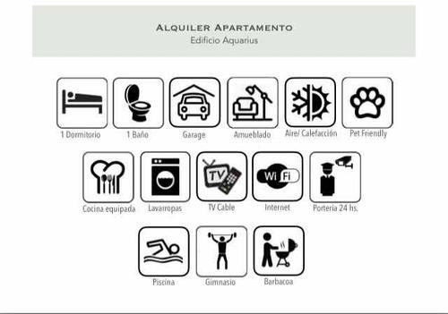 apartamento malvin dueño alquiler aquarius 1 dorm pta. baja