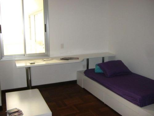 apartamento pocitos venta 3d, estar, serv, garaje!