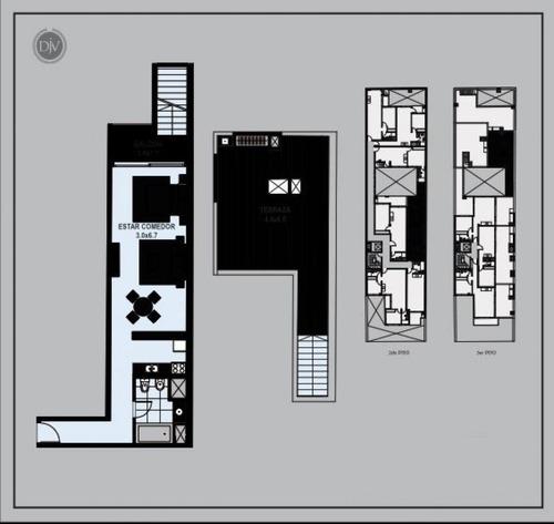 apartamento pocitos venta mono con patio! barreiro y achiras ed. deja vu