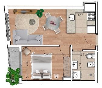 apartamento un dormitorio. entrega  diciembre de 2020