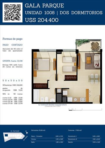 apartamento venta de 2 dormitorios y garaje  parque batlle