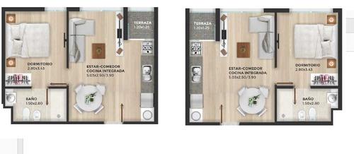apartamentos de 1 y 2 dormitorios con garage en tres cruces