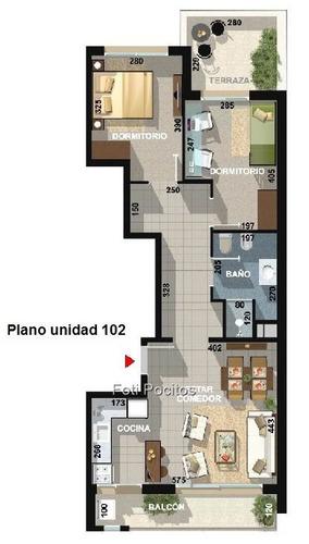 apartamentos de 2 dormitorios, al frente,