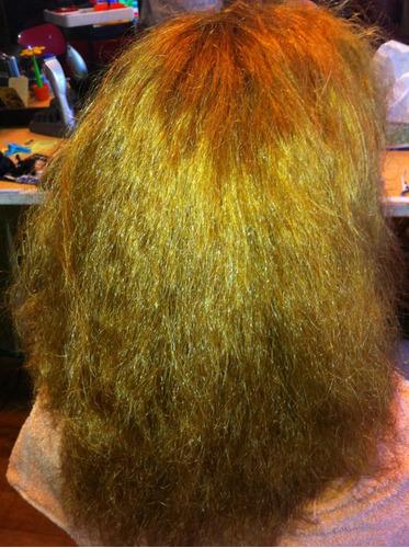 aplicación de keratina brillo de diamantes cabello sedoso!!