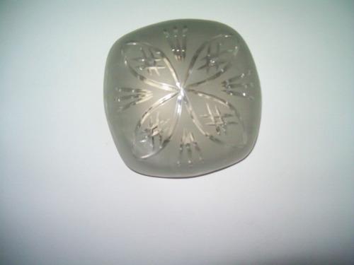 aplique de techo cristal estilo arenado