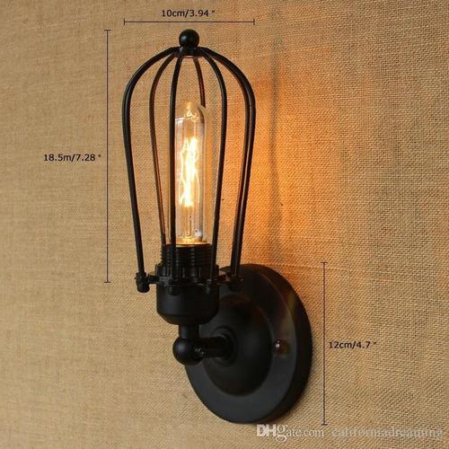 aplique jaula de pared vintage para e27-rústico(color cobre)