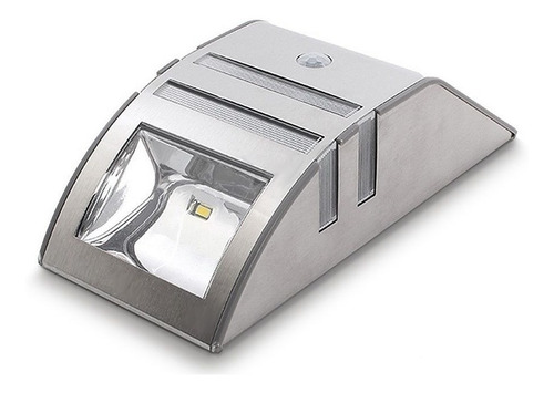 aplique lampara luz led solar pared c/sensor - aluminio.