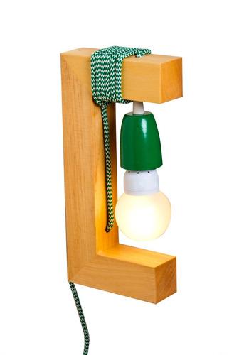 aplique madera verde artelamp