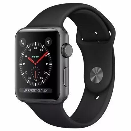 apple watch s3 series 3 42mm gps prova d'água + novo + black