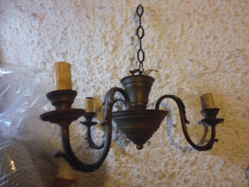araña antigua colgante bronce estilo holandes