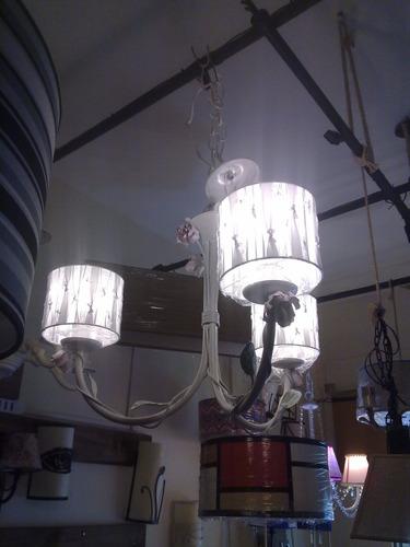 araña hierro forjado,fabrica,iluminacion,caireles,decoracion