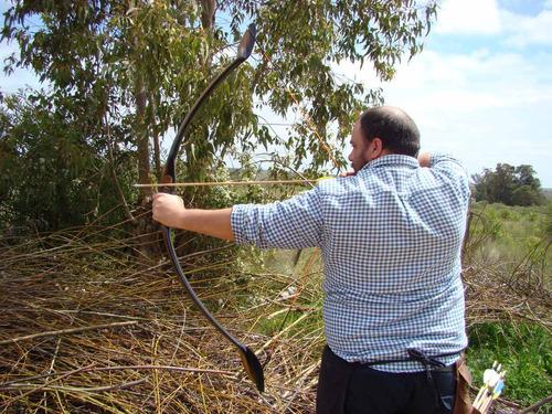 arco darbatas camaro oscuro de 60 lbs, ideal para caza mayor