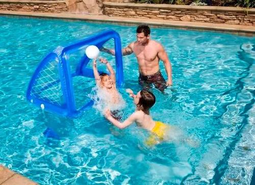 arco inflable con pelota para volley o futbol piscina suelo