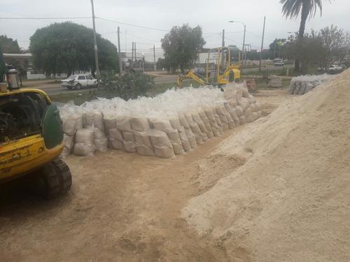 arena pedregullo balastro piedra gris todo en bolsa